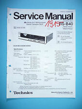 Service Manual For Technics RS-B40 Tape Deck ,ORIGINAL