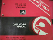 JOHN DEERE OPERATOR'S MANUAL 534 & 544 AGRICULTURAL BULLDOZERS ISSUE A2