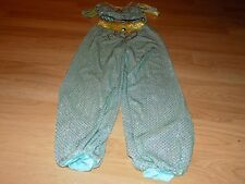Size Medium 7-8 Walt Disney World Princess Jasmine Genie Costume Pants Top Aqua