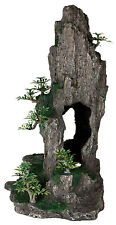 Tall Rock & Bonsai Trees Decoration Fish Cave Ornament for Aquarium Fish Tank