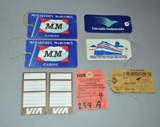 A Selection Of Used Travel Labels.