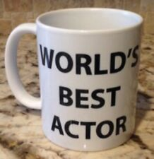 Ceramic Coffee Tea Mug Cup11oz White WORLD'S BEST ACTOR Great Gift New