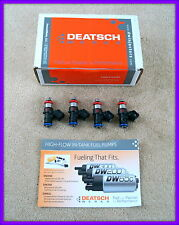 Set of 4 DeatschWerks Bosch EV14 Universal 40mm compact fuel injectors, 700cc
