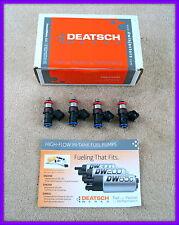 Conjunto de 4 deatschwerks Bosch EV14 Universal 40mm Compacto inyectores de combustible, 700cc