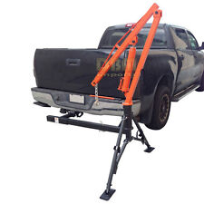 Hydraulic Hitch Mounted Truck Crane Hoist Lift 1000 LBs Capacity
