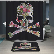 3D Skull Print Shower Curtain Home Bathroom Waterproof  Polyester 180*180cm