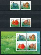 Singapur Singapore 2002 peces fishes poissons libre marcas 1178-81 + bL 85 ** mnh