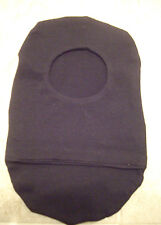 """Ostomy pouch cover   2 1/2"""" opening, black cotton knit"""
