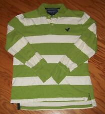 AMERICAN EAGLE ~ MEN'S SIZE MEDIUM LONG SLEEVE CLASSIC FIT POLO SHIRT ~ AEO