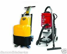 "20"" Concrete Grinding Polishing Machine Vacuum Combo Ermator S26 Polish Concrete"