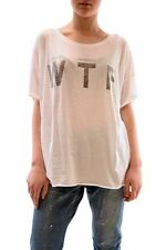 Wildfox Women's Katies WTF Oversized Tee Top Clean White Size S RRP £65 BCF73