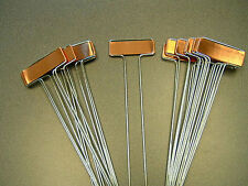 10 COPPER PLANT MARKERS Garden Labels Seed Stakes +free flower seeds HEAVY DUTY
