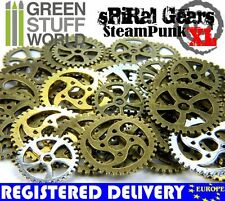 Steampunk Set 85 gr - SPIRAL Cogs and Gears - XL Size - Jewellery Making charms