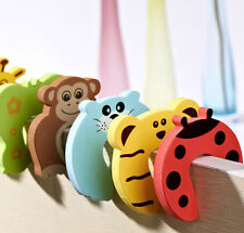 6 X Baby Safety Foam Door Jammer Guard Finger Protector Stoppers Animal Lovely