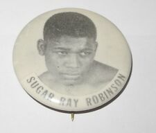 1950's PM10 Boxing Stadium Pin Sugar Ray Robinson World Middleweight Champion