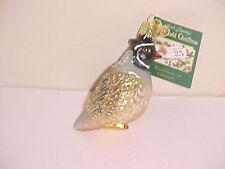 Old World Christmas Partridge Quail  bird  ornament