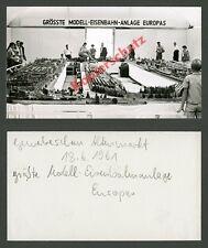 Foto Gewerbeschau Altenmarkt Modell-Eisenbahn Märklin Großanlage Spielzeug 1961