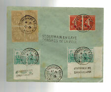 1919 France cover Peace COnference Cancel St Germain en Laye End of WW 1