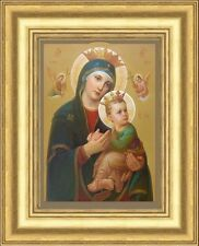 OUR LADY OF PERPETUAL HELP PICTURE - GOLD MOULDED FRAME OTHER PRINTS ARE LISTED