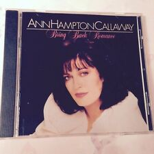 Bring Back Romance by Ann Hampton Callaway (CD, Sep-1994, DRG (USA))