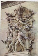 Paris Arc De Triomphe La Marseillaise de Rude France 1967 Postcard 076a