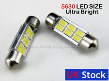 Festoon CAN BUS  36mm C5W ERROR FREE 5630 LED SIZE interior WHITE LED SMD bulbs