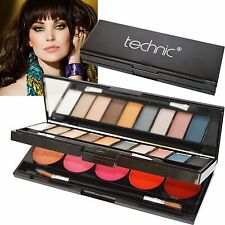 Technic Eye & Lip Palette Kit Compact Lip Gloss Eye Shadow Mirror Christmas Gift