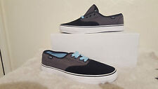 DVS MENS FANTOM BLACK CHAMBRAY  SHOES TRAINERS UK SIZE 8 NEW UNBOXED SKATE