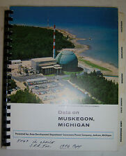 Data on Muskegon, Michigan 1976 Consumers Power Co., industries, local services