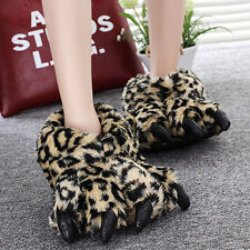 Claws Cotton Slippers Winter Plush All Inclusive Bear Paw Winter Warm Shoes