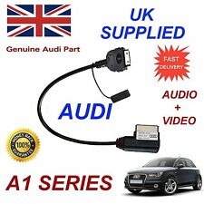 AUDI A1 2012 - 2014 4f0051510r AMI PER APPLE IPHONE IPOD AUDIO VIDEO CAVO ROSSO