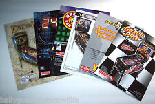 Lot Of (6) ORIG STERN PINBALL MACHINE Flyers HARLEY DAVIDSON 24 LOTR set #23