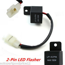 2-Pin Electronic LED Flasher Relay Fix Motorcycle Turn Signal Lights Hyper Flash