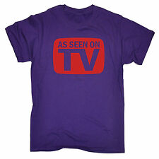 AS SEEN ON TV T-SHIRT tee movie film famous tele funny birthday gift present him