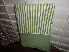 VINTAGE PENNEY FASHION MANOR GREEN & WHITE STRIPE TWIN/TWIN XL FLAT SHEET 66X99