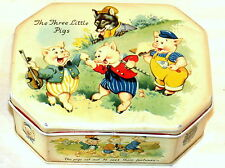 The 3 Little Pigs Disney Cote d'Or Chocolate Tin 1940s