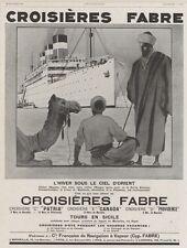"""""""CROISIERES FABRE"""" Annonce orig. entoilée L'ILLUSTRATION 23/02/1929 Sandy HOOK"""