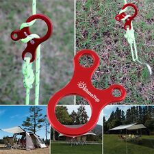 Quick Knot Tent Wind Rope Buckle 3 Hole Antislip Camping Tightening Hook LIA