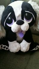 Rescue Pets Electronic Animated Puppy Dog Shaggy Gray & Black ~Barks~Whines