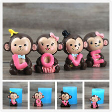 4pcs Monkey Silicone Decorative Soap Molds Resin Clay Crafts Mold Chocolate Mold