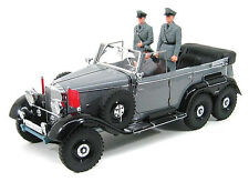 SIGNATURE 1/18 1938 Mercedes Benz G-4 PARADE CAR DIECAST MODEL GREY ARMY VERSION