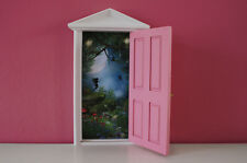 Opening Pink Fairy Door wooden miniature tooth fairy great gift idea magical