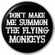 Small 25mm Lapel Pin Button Badge Novelty Flying Monkeys
