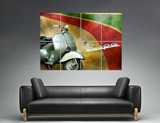 Vespa Classic Vintage Scooter Wall Art Poster Grand format A0