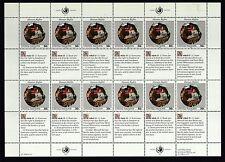 UNO New York 1991 postfrisch MiNr. 623-624  Bogensatz  Menschenrechte