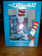 "NEW-DR SEUSS'S-THE CAT IN THE HAT BOX SET-16"" STUFFED CAT & COLLECTORS ED. BOOK"