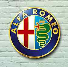 ALFA ROMEO LOGO 2FT LARGE GARAGE SIGN WALL PLAQUE CLASSIC CAR SPIDER 155 75 GT