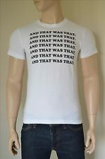 "NEW Abercrombie & Fitch Message ""AND THAT WAS THAT"" Graphic Tee White T-Shirt M"