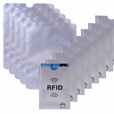 25X RFID Secure Sleeve Passport Credit Card Holder Protector Blocking Shield