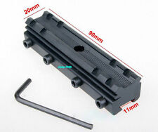 Tactical Hunting Base 11mm Dovetail to 20mm Adapter Weaver Picatinny Mount 45